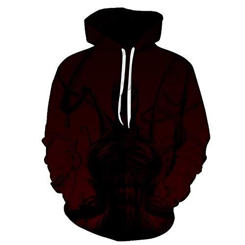 TLLW Sweat à capuche unisexe imprimé 3D avec poches terrorhoodie pour femme, taille plus le Weeknd Sweat-shirt (S-6XL) - - 4X-Large