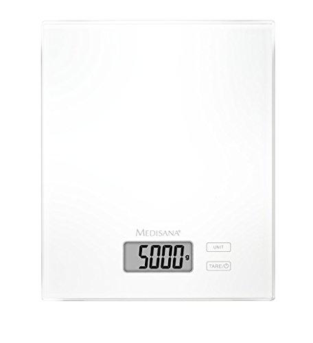 Medisana 40463 KS 210 Küchenwaage, 22,40 x 18,40 x 1,70 cm, weiß