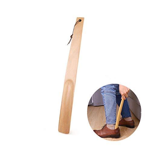 Calzador Largo de Calzado,Cuerno de Zapato con Aro Colgante Calzador de Madera para Mujer,Niños Botas de Hombre,Calzado Deportivo y Tenis 38cm