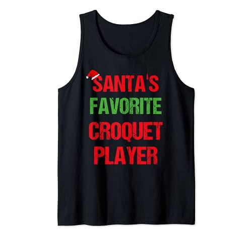 Jugador de croquet Funny Pajama Regalo de Navidad Camiseta sin Mangas