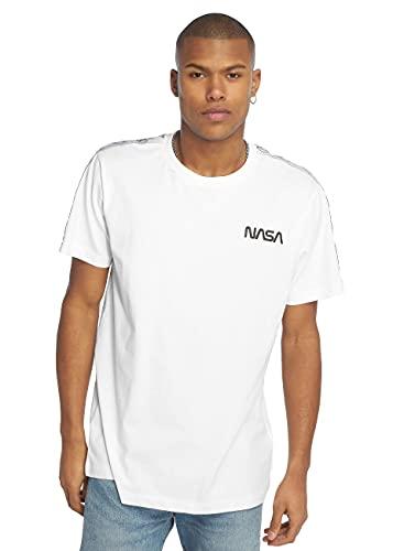Mister Tee NASA Rocket Tape Camiseta, Blanco, L para Hombre