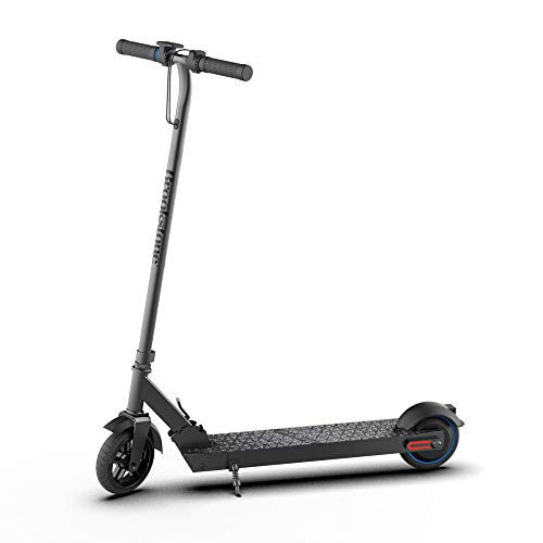 Brookstone BluGlide Lite 6 Folding Electric Scooter for Adults, Powerful 250W Motor, Up to 14 MPH, Up to 7 Miles Long Range, 6.5' Honeycomb Tires, Large LED Display for Commuting