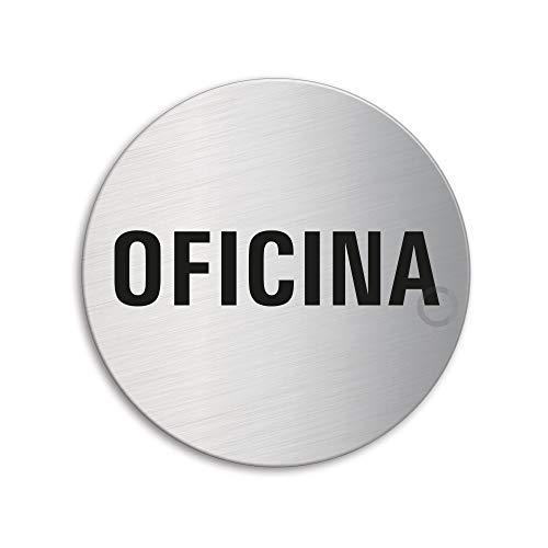 OFFORM Señal pictograma en acero inox - Oficina | Ø 75mm No.39135