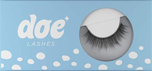 Doe Lashes False Eyelashes - Reusable & Natural Looking Lash Wispies. Handmade from Ultra-Fine Korean Silk. Lightweight Eyelash for that Everyday Look (1 Pack, Really Really Lowkey)