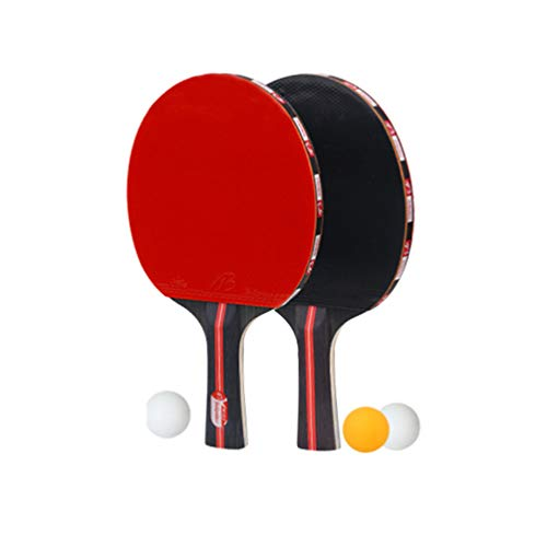 Why Choose BESPORTBLE Ping Pong Paddle Set 2 Ping Pong Paddles and 3 Ping Pong Balls Great for Begin...