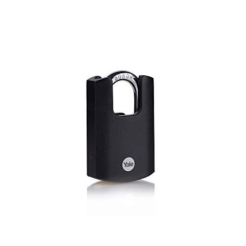 YALE Vorhängeschloss 50 mm Schwarz Schlüsselschloss