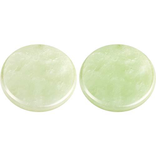 DEZHI Extension de Cils Jade Pierre Glue Cils Jade Pierre Adhésif Palette Base de Faux Cils 2 Pouces (2 Paquets)(2 Paquets)