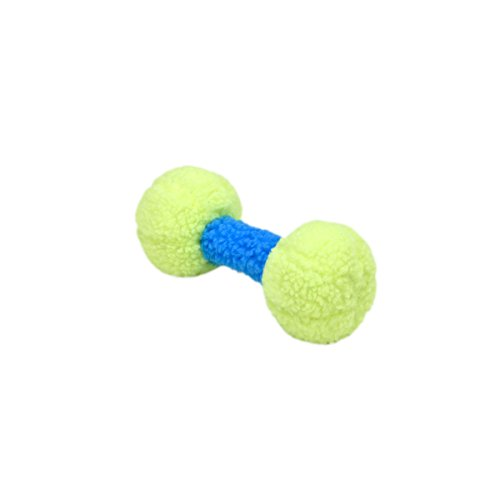 Coastal Pet Products Rascals Fleece Dumbbell Squeaky Dog Toy, 9', Lime/Blue Lagoon(84085 R LIMDOG)