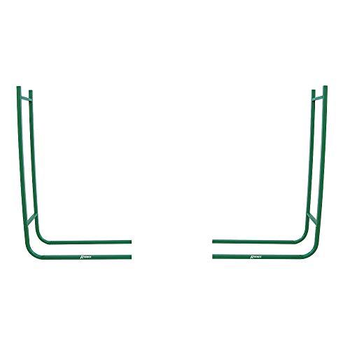 Ribimex PRIRB095 Portalegna a Due Elementi, Altezza 95 cm, Verde
