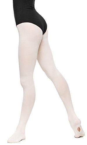 Arabesque Professionelle Damen Ballett Strumpfhose 3D Microfaser mit variablem Fuß 2015 (4 (170-176cm), Ecru)