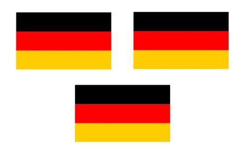 3 x Mini Aufkleber Fahne von Deutschland ohne Wappen Flaggen Sticker Fahrradaufkleber