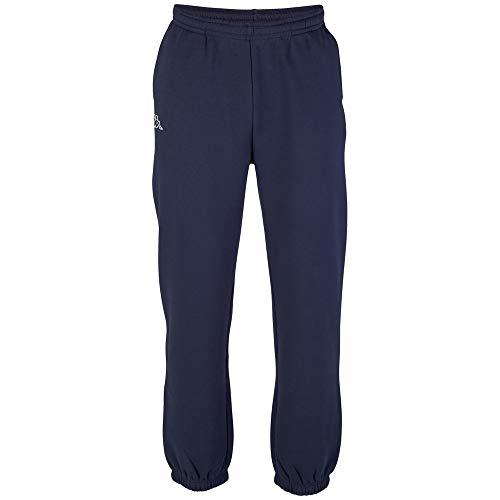 Kappa Herren Jogging-Hose Snako | Lange Sport-Hose Retro-Look I Trainingshose mit Eingriffstaschen | 821 navy, Größe L