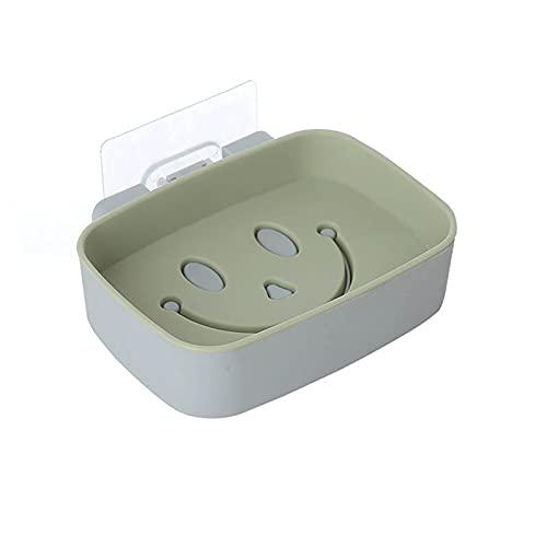 YILAHUAN Caja de jabón Soap Hack Sin taladrado Montado en Pared Soporte de jabón de Doble Capa SAPÓN Accesorios Baño Accesorios de baño Platos de jabón Auto Adhesivo (Color : Burgundy)