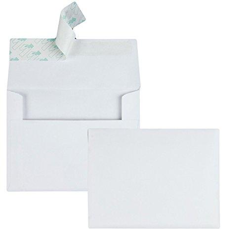 Einladungsumschläge, A2, mit selbstklebendem Verschluss, 10,2 x 13,3 cm, 24lb Weiß, Viertelfalt, ideal für Einladungen, Fotos, Hochzeiten, RSVPs und Grußkarten, 100 Stück pro Box (10740)