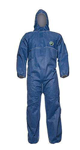 DUPONT Einweganzug Einweg-Overall Schutzanzug Schutz-Anzug KAT 3 Typ 5/6 blau, Größe:L