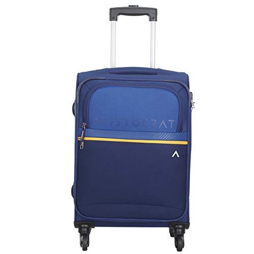 Aristocrat Polyester 58 cms Blue Softsided Cabin Luggage (Brezza)