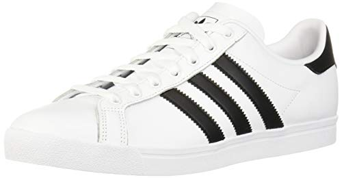 adidas Originals Men's Coast Star Sneaker, White, Black, White, 12.5 Medium US