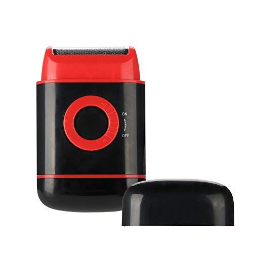 Folienrasierer Elektrorasierer für Herren, Elektrische Wasserdicht Nass-und Trockenes Bart Trimmer Rasierer, Bestes Geschenk für Männer(Rot)