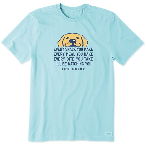 Life is Good Men's Standard Crusher Graphic T-Shirt I'll Be Watching You, Beach Blue, X-Large