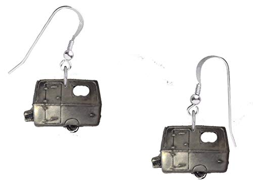 Touring Caravan Ohrringe mit Haken, Sterling-Silber 925, gestempelt ref317
