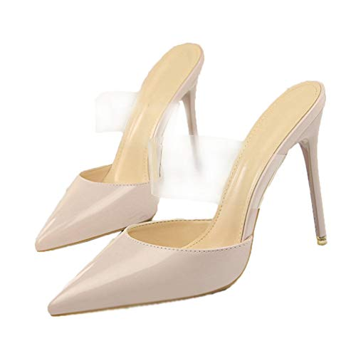 Frauen Klassische Pumps Stiletto High Heel Schuhe Spitz Geschlossene Zehen Slip On Dress Pumps