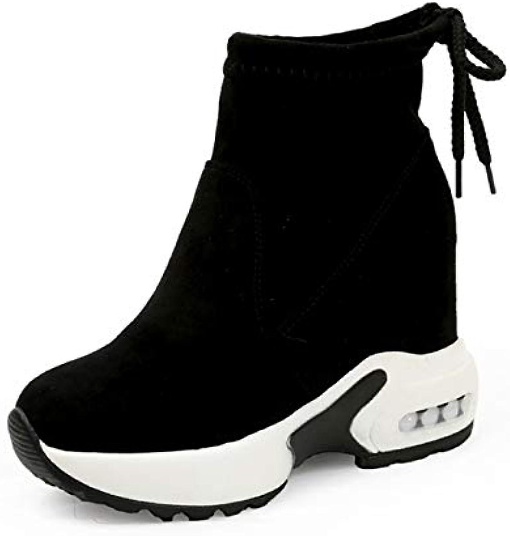 Fumak Fashion Increasing shoes Women High Heels Ankle Boots for Women Autumn Winter Rubber Boots Women Pumps Ladies 35-39