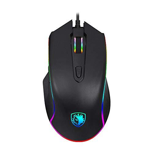 SADES Scythe Gaming Mouse con Cable 4000 dpi Ajustable, 11 RGB retroiluminación,...