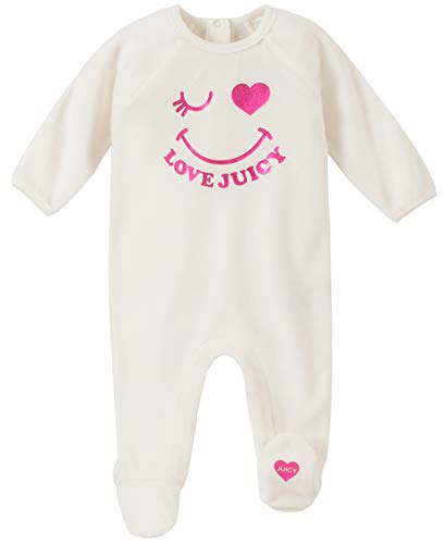 Juicy Couture Baby Girls Coverall, Vanilla/Pink, 6-9 Months