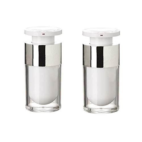 Minkissy 2 Pcs Rechargeable Vide Pompe Bouteilles Distributeur De Savon Bouteilles Pour Savon Liquide Shampooing Lotions Distributeurs À Main Cuisine Bain 15 Ml