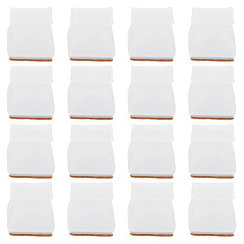 iplusmile 16 Piezas Funda de Silicona para Patas Y Sillas Protector de Suelo para Patas Y Muebles Cuadrados Tapa de Patas Antideslizante para Pasteles de Mesa Protegido El Suelo de Arañazos