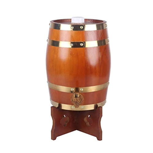 LIWine Barril de Vino de Madera Barril De Madera, Barrica De Vino Barrica De Roble Hogar Restaurante Decoración Dispensador De Agua Barril De Cerveza Jugo De Vino Hogar 5L (Color : Chocolate)