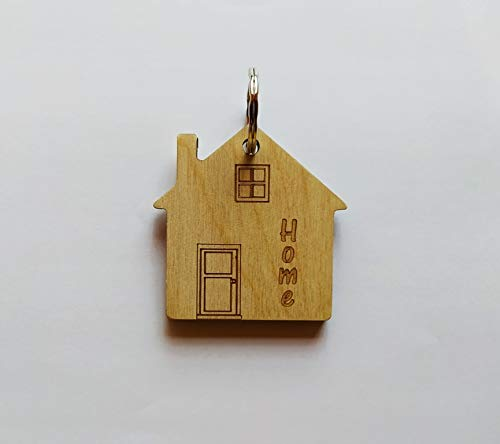 Portachiavi casa home per lui e per lei in legno Porta chiavi originale Idea regalo Natale trasloco casa nuova
