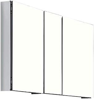 "AQUAMOON アルミ製薬棚 鏡付きドア 50"" x 26"