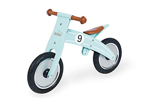 Pinolino 239478 Nico - Ruota in legno, pneumatici non smontabili, trasformabile da chopper a ruota, consigliato dai 2 anni, colore: menta