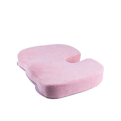 GWW - Cojín de espuma viscoelástica para asiento, almohadillas gruesas desmontables para silla ortopédica, para aliviar el dolor de ciática, dolor de espalda baja