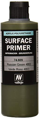 Vallejo - Apprêt pour maquette - 200 ml - Polyuréthane - Coloré Russian Green
