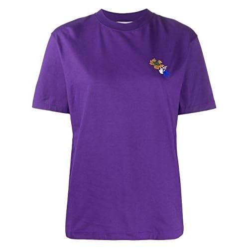 OFF-WHITE OWAA049E20JER0143501 - Maglietta da donna, in cotone, colore: Viola Violet XS