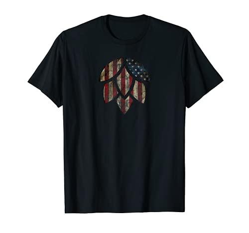 American Hops - Regalo para cerveceros caseros y aficionados a la cerveza Camiseta