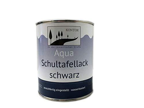 Schultafellack Tafelfarbe Aqua innen & außen schwarz 750ml