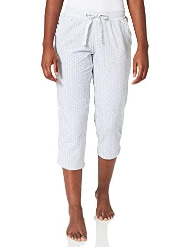 Schiesser Damen Mix & Relax Jerseyhose 3/4 lang Schlafanzughose, Grau (Grau-Mel. 202), 40 (Herstellergröße: 040)