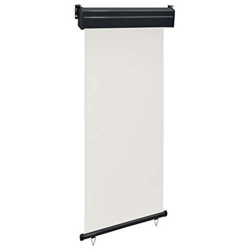 vidaXL Balkon-Seitenmarkise 80 × 250 cm Cremeweiß