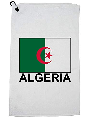 Hollywood Thread Algerije Vlag - Speciale Vintage Edition Golf Handdoek met Karabijnhaak Clip