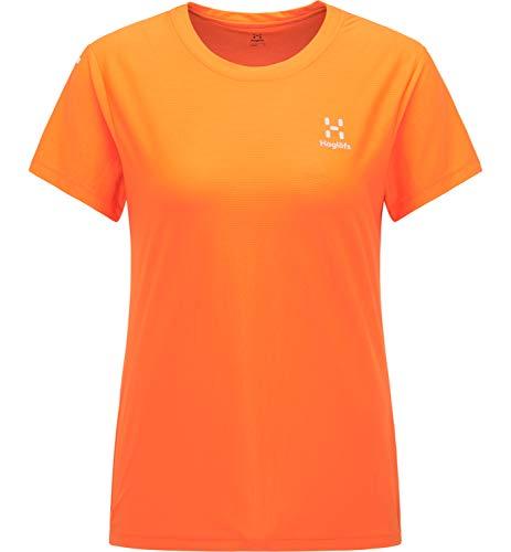 Haglöfs L.I.M Tech Camiseta para Senderismo, 4N8-Flame Orange, L Mujer