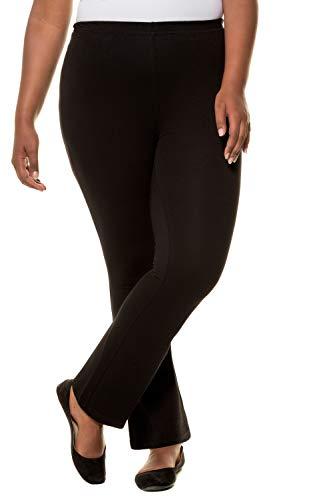 Ulla Popken Damen große Größen Übergrößen Plus Size Hose, Yogahose, Jersey, ausgestelltes Bein, Elastikbund 701154