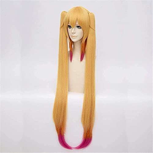 HTDYLHH Belles perruques, Cosplay peluca la criada dragón de kobayashi-san oscuro pelucas sopladas corta cosplay fiesta de moda anime traje humano pelucas llenas de pelo sintético de la fibra resisten