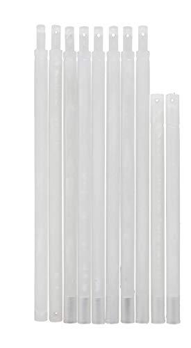 Pickhardt Raffrollo Beschwerungsstab Set Kunststoff Zubehör Ersatzteil Fallstab transparent für Gardinen 400-1200 mm, Stabset Raffrollo:800 mm (4 Stangen)