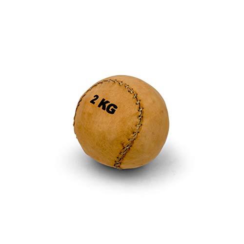 Vinex Balón Medicinal de Cuero pequeño y sólido - 1 kg - 2 kg - 3 kg - 4 kg - 5 kg - 6 kg