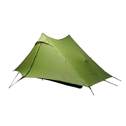 TENT HDS LanShan 1 pro 2 pro 1/2 Person Outdoor Ultralight Camping 3 Season Professional 20D Nylon Both Sides Silicon (Color : 1 Pro green)