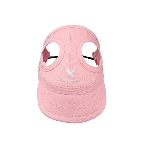 Doingshop - Gorra de béisbol para perro o perro, para exterior, protección solar, para invierno, para perros pequeños, medianos y grandes, para perros, Mujer, rosa, Large