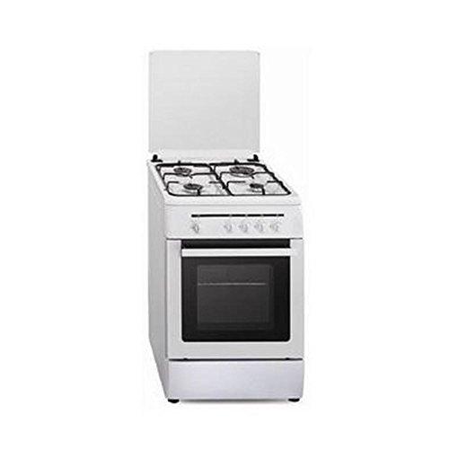 Vitrokitchen CB60BB - Cocina (Cocina independiente, Negro, Blanco, Giratorio, Parte superior delantera, Encimera de gas,...
